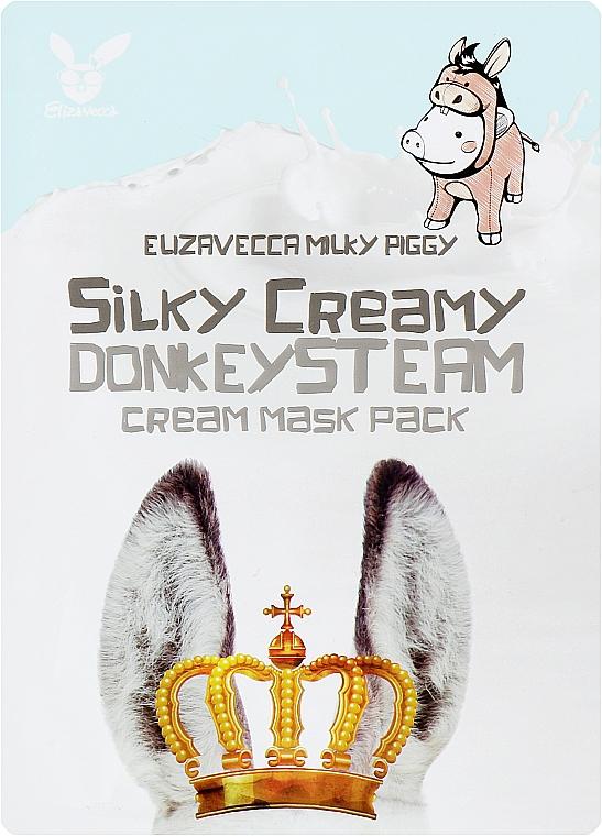 Маска тканевая с паровым кремом - Elizavecca Silky Creamy donkey Steam Cream Mask