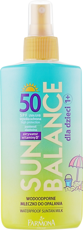Водостойкое молочко для детей - Farmona Sun Balance Milk SPF 50