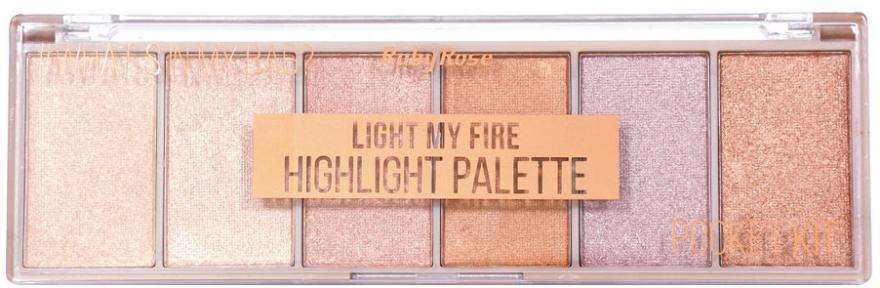 Палетка хайлайтеров - Ruby Rose Light My Fire Highlight Palette