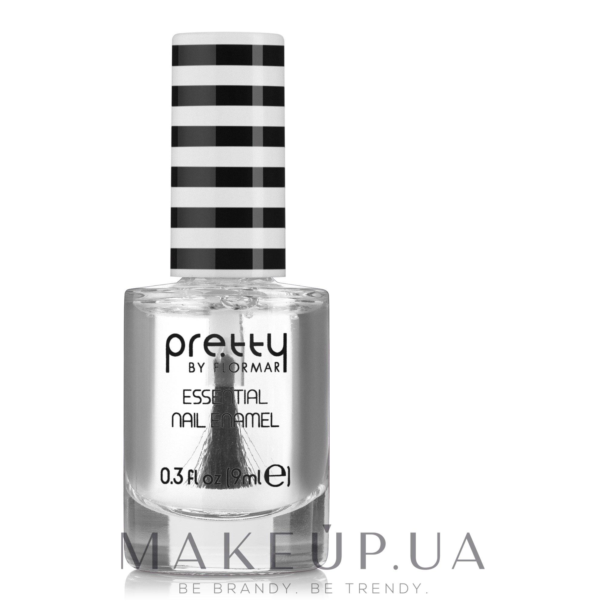 Лак для ногтей - Flormar Pretty Essential Nail Enamel — фото 001 - Crystal Clear