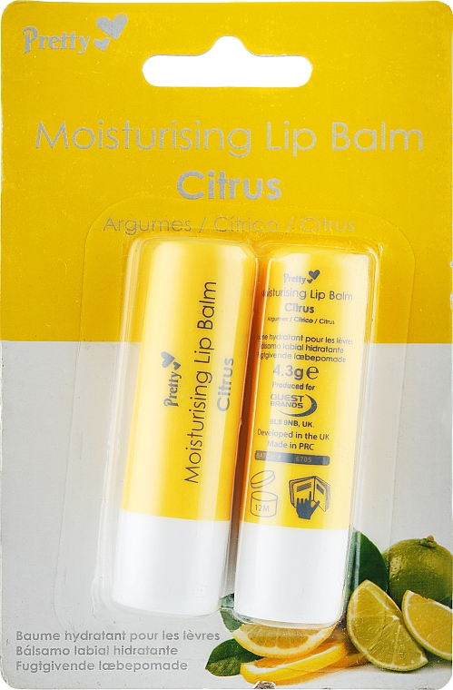 "Бальзам для губ ""Цитрус"" - Pretty Moisturising Lip Balm Citrus"