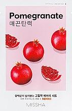 Духи, Парфюмерия, косметика Маска для лица с экстрактом граната - Missha Airy Fit Pomegranate Sheet Mask