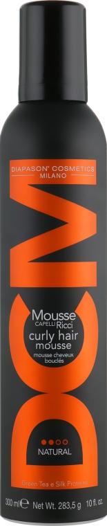 Мусс для укладки вьющихся волос натуральной фиксации - DCM Curly Hair Mousse Natural