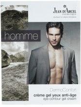 Духи, Парфюмерия, косметика Увлажняющий крем-гель для глаз - Jean d'Arcel DermoConfort Homme Eye Contour Cream-Gel (пробник)