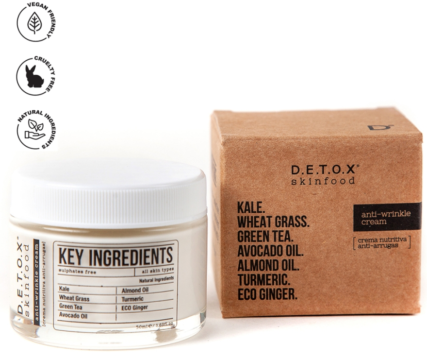 Детокс-крем против морщин - D.E.T.O.X. Skinfood Anti Wrinkle Cream