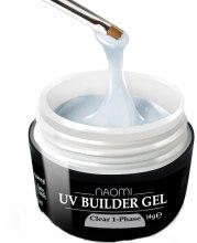 Духи, Парфюмерия, косметика Однофазный прозрачный гель - Naomi UV Builder Gel Clear 1-Phase