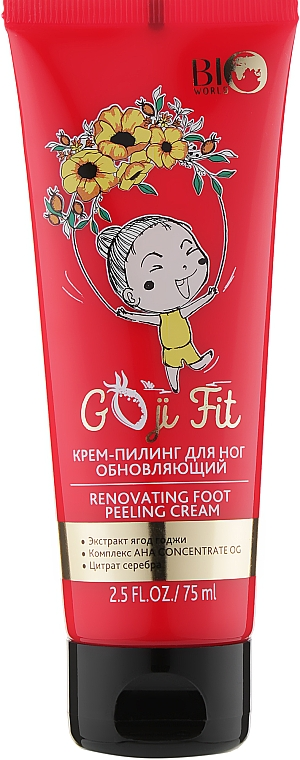 Крем-пилинг для ног - Bio World Goji Fit Renovating Foot Peeling Cream