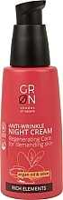 Духи, Парфюмерия, косметика Ночной крем для лица - GRN Rich Elements Argan Oil & Olive Night Cream