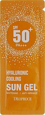 Увлажняющий солнцезащитный гель с гиалуроновой кислотой - Deoproce Hyaluronic Cooling Sun Gel SPF50/PA+++ (пробник)