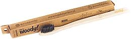 Духи, Парфюмерия, косметика Бамбуковая зубная щетка, мягкая, черная щетина - WoodyBamboo Bamboo Toothbrush Natural
