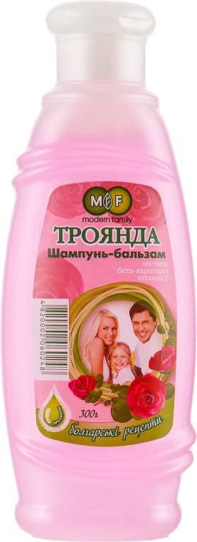 """Шампунь-бальзам """"Роза"""" - Pirana MODERN FAMILY"""
