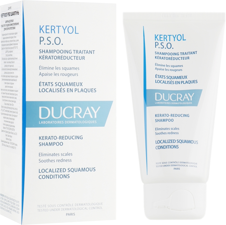 Шампунь для волос - Ducray Kertyol P.S.O. Kerato-Reducing Shampoo