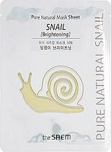 Духи, Парфюмерия, косметика Маска тканевая улиточная - The Saem Pure Natural Mask Sheet Snail Brightening