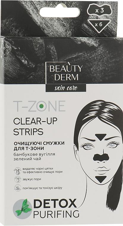 """Очищающие полоски для """"Т-зоны"""" с бамбуковым углем - Beauty Derm T-Zone Clear-Up Strips"""