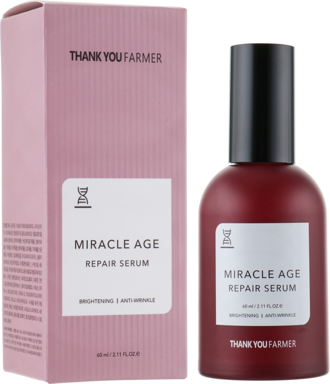 Восстанавливающая сыворотка для осветления, против морщин - Thank You Farmer Miracle Age Serum