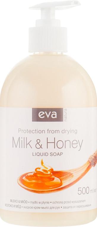 """Жидкое крем-мыло для рук """"Молоко и Мед"""" - Eva Natura"""