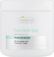 Парфумерія, косметика Сіль для педикюру, з лаймом і м'ятою - Bielenda Professional Foot Bath Salt with Lime & Mint