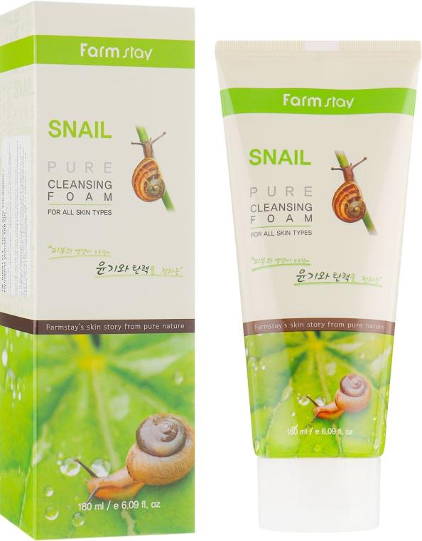 Очищающая пенка для лица с муцином улитки - FarmStay Snail Pure Cleansing Foam