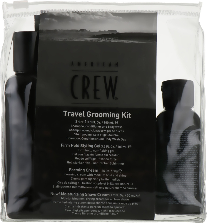 Набор - American Crew Classic (gel/100 ml + cr/50 g + sh/gel/100 ml+ sh/cr/50 ml)