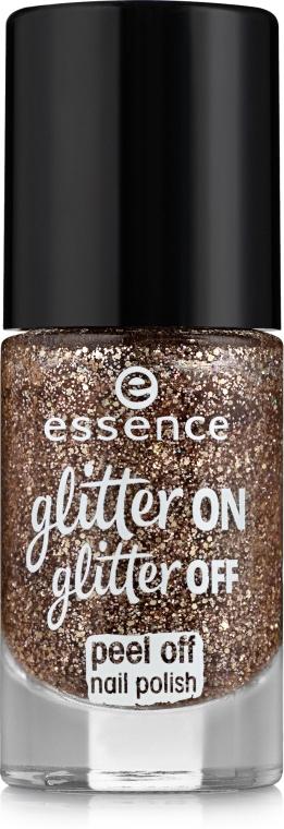 Лак для ногтей - Essence Glitter On Glitter Off Peel Off Nail Polish