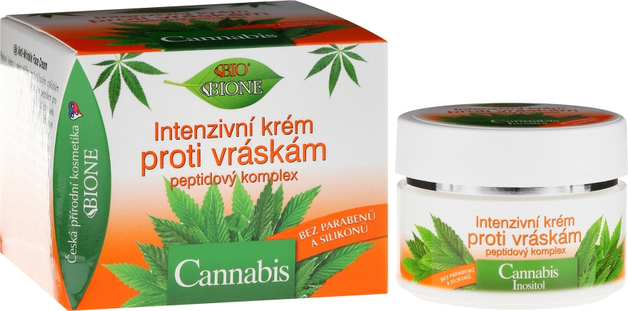 Крем для лица против морщин - Bione Cosmetics Cannabis Intensive Anti-Wrinkle Cream