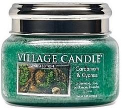 Духи, Парфюмерия, косметика Ароматическая свеча в банке - Village Candle Cardamom & Cypress