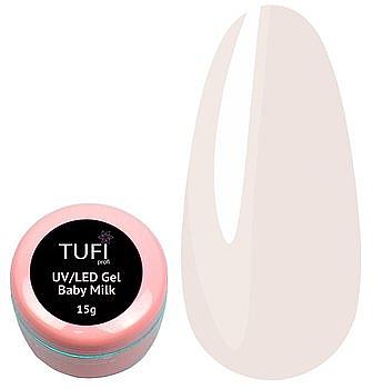 Гель для наращивания ногтей - Tufi Profi UV/LED Gel Baby Milk