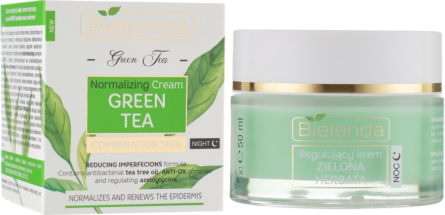 Регулирующий крем - Bielenda Green Tea Regulating Night Face Cream Combination Skin