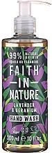 Духи, Парфюмерия, косметика Жидкое мыло для рук с алоэ вера - Faith in Nature Lavender & Geranium Hand Wash