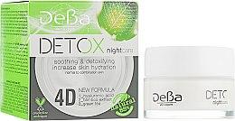 Духи, Парфюмерия, косметика Крем для лица ночной с 4D гиалуроновой кислотой для нормальной и комбинированной кожи - DeBa Detox