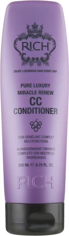 Восстанавливающий СС-кондиционер для волос - Rich Pure Luxury Miracle Renew CC Conditioner