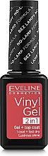 Духи, Парфюмерия, косметика Виниловый гелевый лак для ногтей 2 в 1 - Eveline Cosmetics Vinyl Gel Top Coat 2 In1