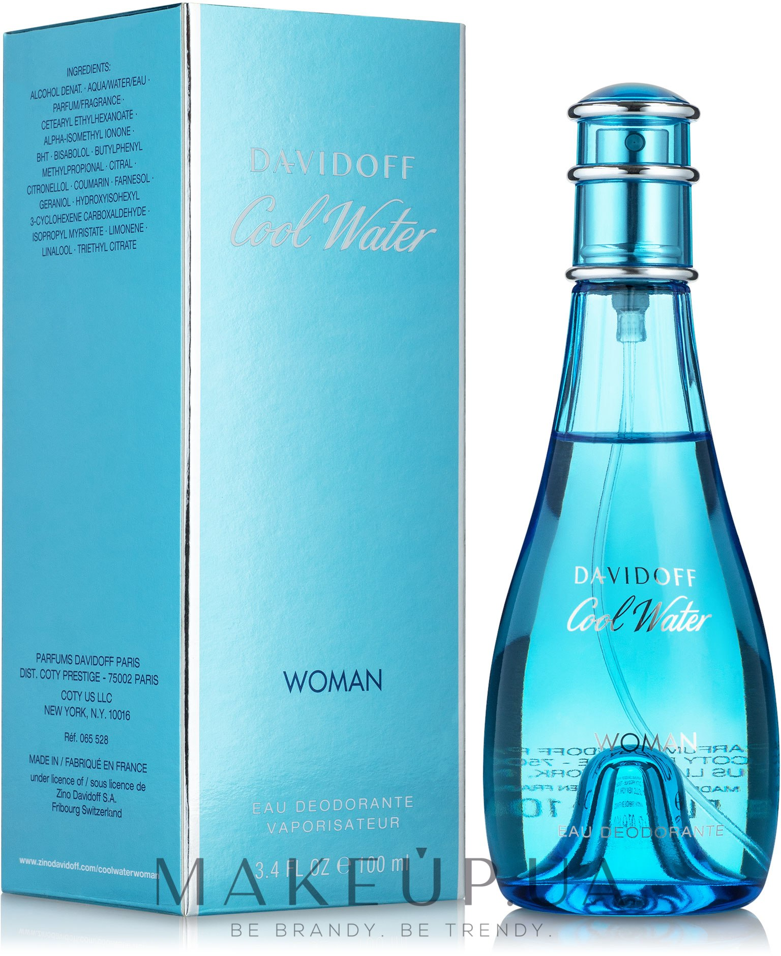 Davidoff Cool Water woman - Дезодорант — фото 100ml