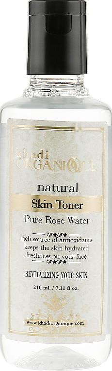 Натуральная розовая вода для волос и кожи лица и тела - Khadi Organique Rose Water Skin Toner