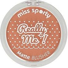 Духи, Парфюмерия, косметика Румяна - Miss Sporty Really Me Matte Blusher