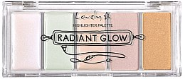 Духи, Парфюмерия, косметика Палетка хайлайтеров для лица - Lovely Radiant Glow Highlighter Palette