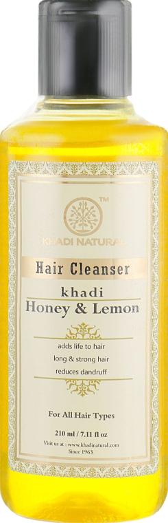 """Натуральный аюрведический шампунь из индийских трав """"Мед и лимон"""" - Khadi Natural Honey & Lemon Juice Hair Cleanser"""