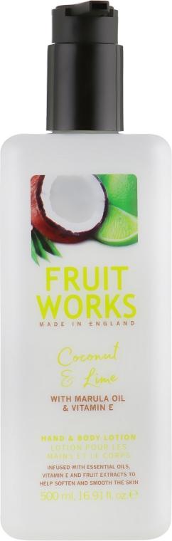 "Лосьон для рук и тела ""Кокос и лайм"" - Grace Cole Fruit Works Hand & Body Lotion Coconut & Lime"