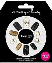 Духи, Парфюмерия, косметика Набор искусственных ногтей с клеем, 3056 - Donegal Express Your Beauty