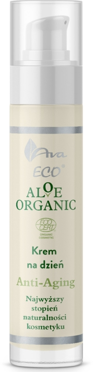 Дневной крем для лица - Ava Laboratorium Aloe Organic Anti Aging Day Cream