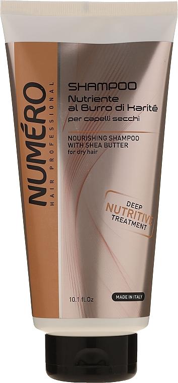 Шампунь с маслом карите и авокадо - Brelil Numero Nourishing Shampoo With Shea Butter
