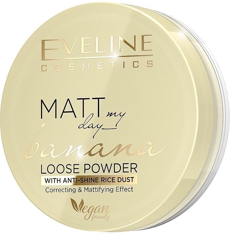 Рассыпчатая банановая пудра для лица - Eveline Cosmetics Matt My Day Banana Powder