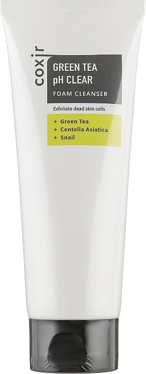 Очищающая пенка - Coxir Green Tea pH Clear Foam Cleanser