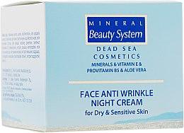 Духи, Парфюмерия, косметика Ночной крем для лица от морщин для сухой и чувствительной кожи - Mineral Beauty System Face Anti Wrinkle Night cream