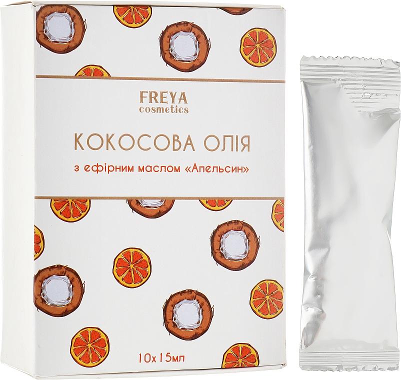 """Кокосовое масло с эфирным маслом """"Апельсин"""" - Freya Cosmetics"""