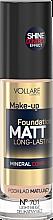 Духи, Парфюмерия, косметика Тональный крем с матирующим эффектом - Vollare Cosmetics Make Up Foundation Matt Long-Lasting