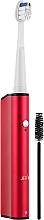 Парфумерія, косметика Електрична звукова зубна щітка, червона - Jetpik JP 260-R Sonic Red
