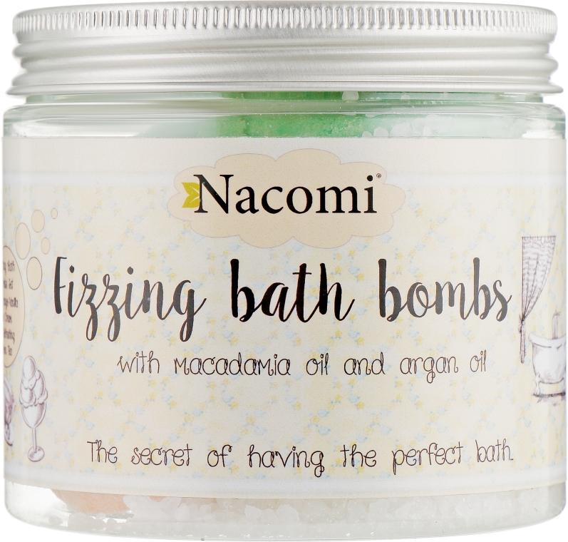 Набор бомбочек для ванны - Nacomi Orange Vanilla and Green Tea Bath Bomb (bomb/4шт)