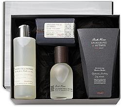 Парфумерія, косметика Bath House Spanish Fig and Nutmeg - Набір (edc/100ml + sh/gel/260ml + shave/balm/100ml + soap/150g)