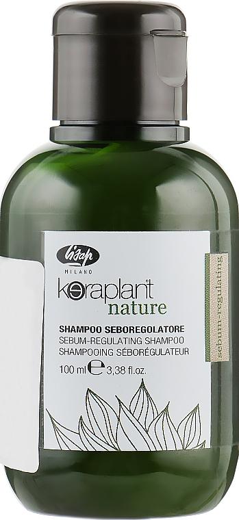 Шампунь для регулирования жирности волос - Lisap Keraplant Nature Sebum-Regulating Shampoo